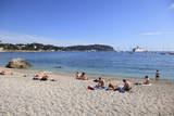 Beach, Villefranche Sur Mer, Cote D'Azur, French Riviera, Alpes Maritimes Photographic Print by Wendy Connett