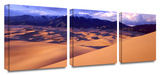 Great sand dunes 3-Piece Canvas Set Gallery Wrapped Canvas Set by Dean Uhlinger