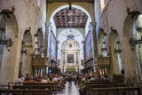Tourists Inside Syracuse Cathedral Photographic Print by Matthew Williams-Ellis