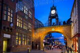 East Gate Clock at Christmas, Chester, Cheshire, England, United Kingdom, Europe Photographic Print by Frank Fell
