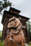 Traditional Wood Carving in the Ewenen Museum in Esso, Kamchatka, Russia, Eurasia Photographic Print by Michael Runkel