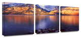 Jenny Lake sun rise 3-Piece Canvas Set Gallery Wrapped Canvas Set by Dean Uhlinger