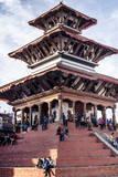Maju Deval Temple, Durbar Square, UNESCO World Heritage Site, Kathmandu, Nepal, Asia Reprodukcja zdjęcia autor Andrew Taylor