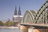 Cologne Cathedral (Dom) across the River Rhine, Cologne, North Rhine-Westphalia, Germany, Europe Photographic Print by Julian Elliott