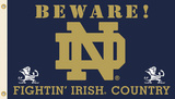 NCAA Notre Dame Fighting Irish Country Flag with Grommets Flag