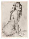 Marion - Topless Hawaiian Girl - from Etchings and Drawings of Hawaiians Art par John Melville Kelly