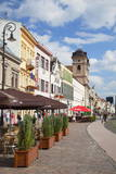 Outdoor Cafes in Hlavne Nam (Main Square), Kosice, Kosice Region, Slovakia, Europe Photographic Print by Ian Trower