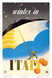 Alfredo Lalia - Winter in Italy - Italian Tarocco Blood Oranges under an Umbrella - Poster