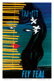 Tahiti - Fly Teal (Tasman Empire Airways Limited) Posters par Arthur Thompson