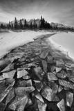 A Small Creek Filled with Shards of Ice in Mid-Winter Flow into Kluane Lake Photographic Print by Peter Mather
