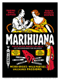 Marihuana - Weed with Roots in Hell - Weird Orgies - Wild Parties - Unleashed Passions Prints by Dwain Esper