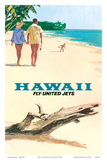 Hawaii - Fly United Jets - United Air Lines Prints