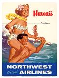 Hawaii - Northwest Orient Airlines Kunst