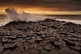 The Giant's Causeway Features Octagonal Volcanic Basalt Shafts Reaching Out into the Celtic Sea Photographic Print by Jim Richardson