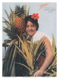 Libby's Hawaiian Pineapple Girl Prints