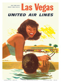 Las Vegas - United Air Lines Poster by Stan Galli