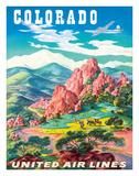 Colorado - United Air Lines - Garden of the Gods, Colorado Springs Giclee Print by Joseph Feher