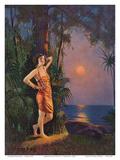 Hawaiian Pin-up Girl Prints by L. Goddard