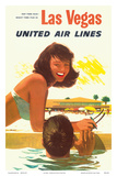 Las Vegas - United Air Lines Prints by Stan Galli