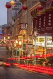 Car Streaks in Chinatown at Night Photographic Print by Richard Nowitz