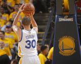 2014 NBA Playoffs Game 6: May 1, Los Angeles Clippers vs Golden State Warriors - Stephen Curry Photographic Print by Rocky Widner