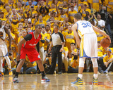 2014 NBA Playoffs Game 6: May 1, Los Angeles Clippers vs Golden State Warriors - Chris Paul Photographic Print by Rocky Widner