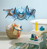 Finding Nemo Sharks Peel and Stick Giant Wall Decals Autocollant