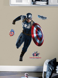 Captain America Peel and Stick Giant Wall Decals Wall Decal