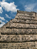 The High Priest's Temple, El Osario, in the Ancient City of Chichen Itza Photographic Print by Vlad Kharitonov
