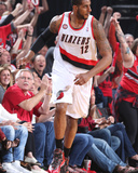 2014 NBA Playoffs Game 6: May 2, Houston Rockets vs Portland Trail Blazers - LaMarcus Aldridge Photographic Print by Sam Forencich