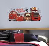 Cars 2 - Amici alla linea d'arrivo gigante (sticker murale) Decalcomania da muro