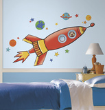 Rocket Peel and Stick Giant Wall Decals Wall Decal