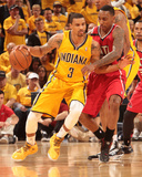 2014 NBA Playoffs Game 7: May 3, Atlanta Hawks vs Indiana Pacers - George Hill Photographic Print by Ron Hoskins