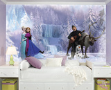 Frozen Chair Rail Prepasted Wall Mural Wall Mural