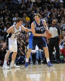 2014 NBA Playoffs Game 2: Apr 23, Dallas Mavericks vs San Antonio Spurs - Dirk Nowitzki Photographic Print by D. Clarke Evans