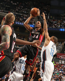 2014 NBA Playoffs Game 4: Apr 28, Miami Heat vs Charlotte Bobcats - Ray Allen Photographic Print by Kent Smith