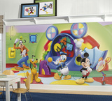 Mickey & Friends Clubhouse - Capers Prepasted Mural Wallpaper Mural