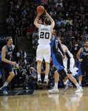 2014 NBA Playoffs Game 2: Apr 23, Dallas Mavericks vs San Antonio Spurs - Manu Ginobili Photographic Print by D. Clarke Evans