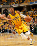 2014 NBA Playoffs Game 7: May 3, Atlanta Hawks vs Indiana Pacers - Paul George Photographic Print by Ron Hoskins