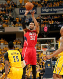 2014 NBA Playoffs Game 7: May 3, Atlanta Hawks vs Indiana Pacers - Mike Scott Photo by Ron Hoskins