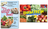 Locally Grown Foods Poster Set Plakaty