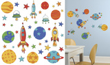 Planets and Rockets Peel and Stick Wall Decals Wall Decal