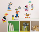 Mickey & Friends - Animated Fun Peel and Stick Wall Decals Kalkomania ścienna