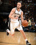 2014 NBA Playoffs Game 2: Apr 23, Dallas Mavericks vs San Antonio Spurs - Manu Ginobili Photographic Print by Garrett Ellwood