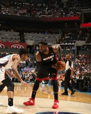 2014 NBA Playoffs Game 4: Apr 28, Miami Heat vs Charlotte Bobcats - LeBron James Photographic Print by Kent Smith