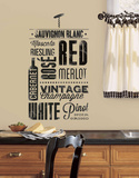 Wine Lovers Peel and Stick Wall Decals Vinilo decorativo