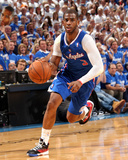 2014 NBA Playoffs Game 2: May 7, Los Angeles Clippers vs Oklahoma City Thunder - Chris Paul Fotografisk tryk af Layne Murdoch