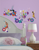Disney Fairies - Best Fairy Friends Peel and Stick Wall Decals Decalques de parede