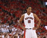 2014 NBA Playoffs Game 7: May 4, Brooklyn Nets vs Toronto Raptors - DeMar DeRozan Photographic Print by Dave Sandford