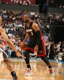 2014 NBA Playoffs Game 4: Apr 28, Miami Heat vs Charlotte Bobcats - Dwyane Wade Photographic Print by Kent Smith